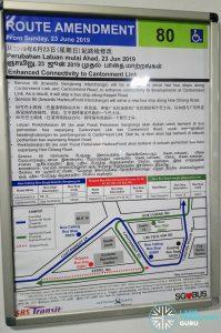 Service 80 Route Amendment Poster (Enhanced Connectivity to Cantonment Link)