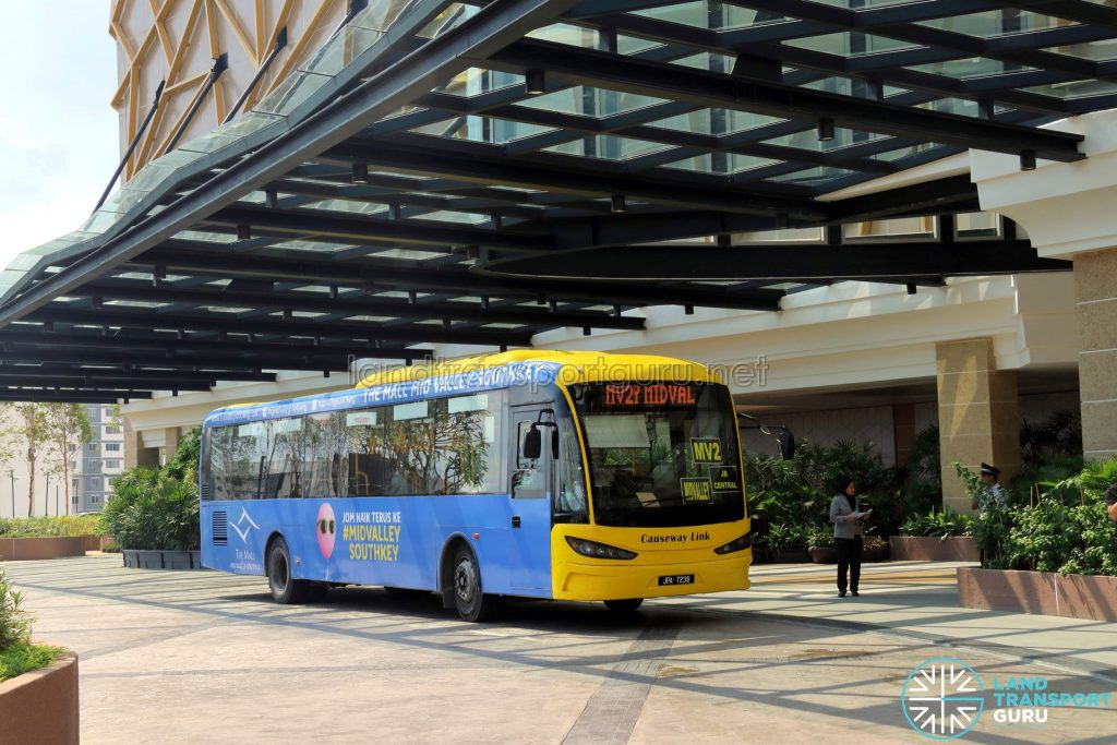 Mid Valley Southkey - MV2 bus pick-up point
