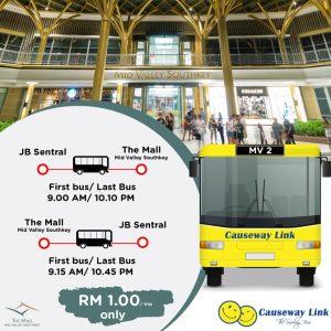Causeway Link Bus Service MV2 Route Poster