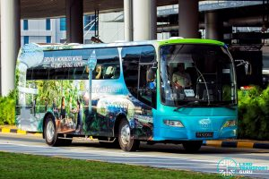Jewel Changi Airport Shuttle Bus - Woodlands Transport Service Isuzu LT134P (PA9206U)