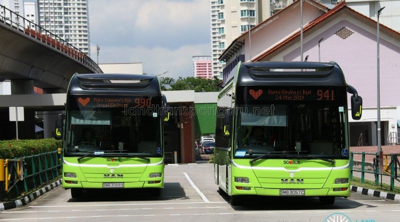 Tower Transit Kindness Day SG messages on MAN A22 buses