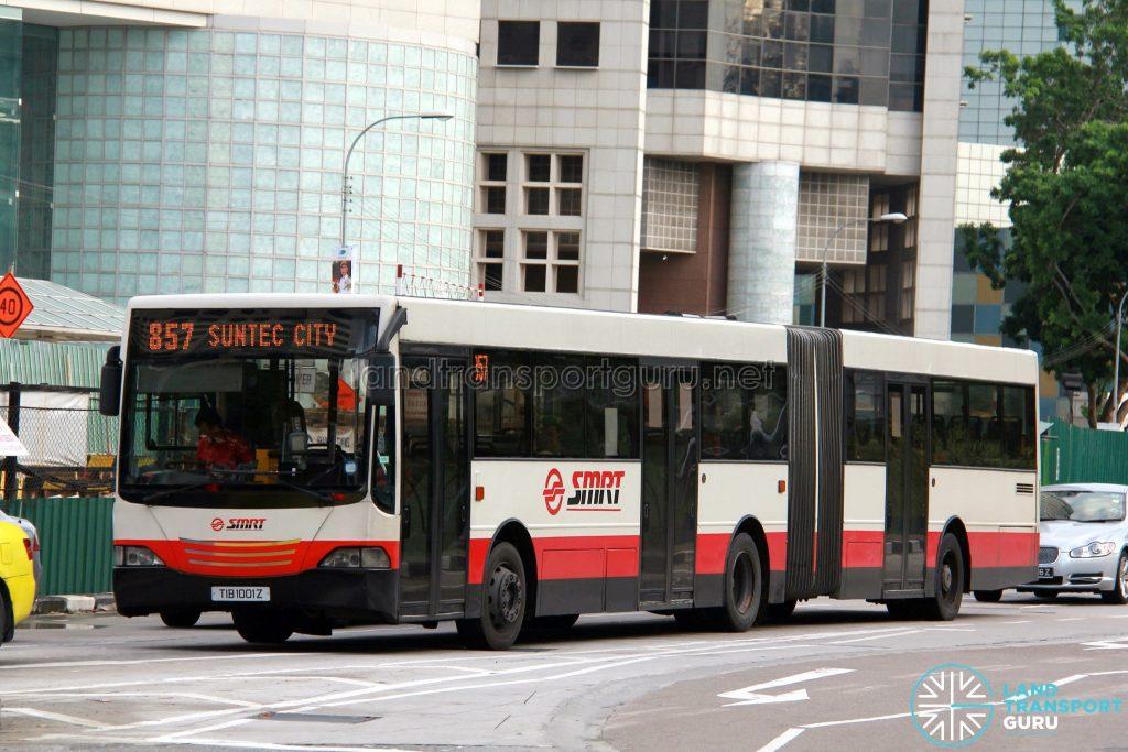 SMRT Mercedes-Benz O405G (Hispano MkII) (TIB1001Z) - Service 857