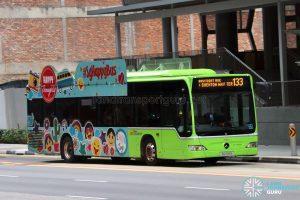 Bus 133 - SBS Transit Mercedes-Benz Citaro (SG1100B) / SGHappyBus