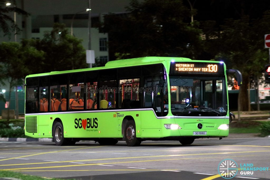 Bus 130 - SBS Transit Mercedes-Benz Citaro (SG1168G)