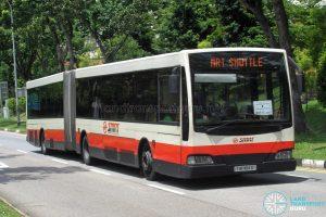 SMRT Mercedes-Benz O405G Volgren (TIB1184D) - MRT Shuttle (Jurong East - Bukit Batok)