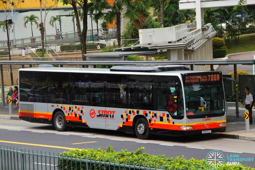 Bus 700A: SMRT Buses Mercedes-Benz Citaro (SMB140P)