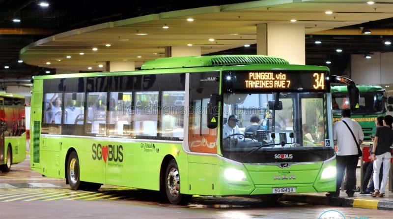 Bus 34 - Go-Ahead Singapore MAN A22 Euro 6 (SG1849A)