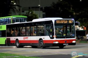 Bus 167 - SMRT Buses Mercedes-Benz Citaro (SMB188C)