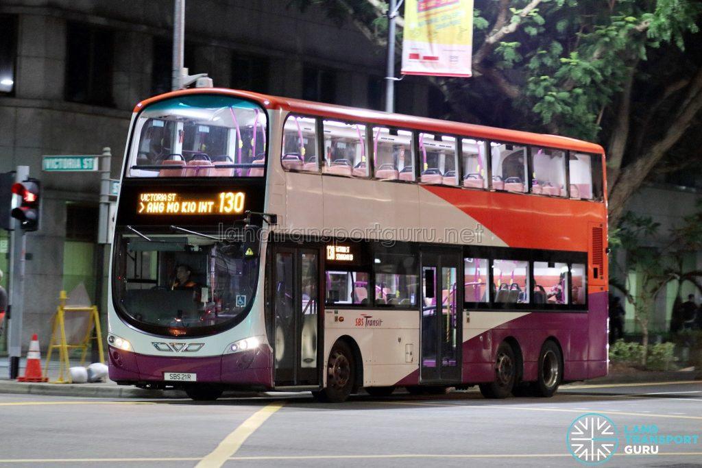 Bus 130 - SBS Transit Volvo B9TL Wright (SBS21R)