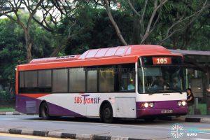 SBS Transit Volvo B10BLE CNG (SBS2992A) - Service 105