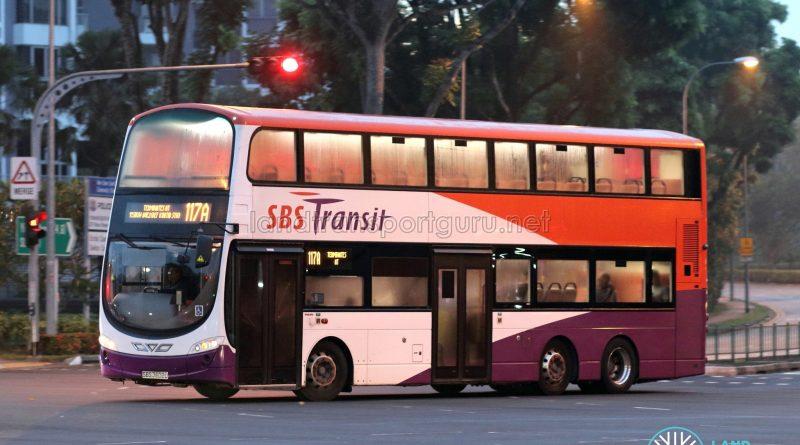 Bus 117A - SBS Transit Volvo B9TL Wright (SBS3602U)