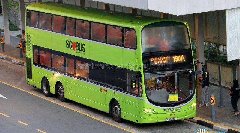Bus 190A - SMRT Buses Volvo B9TL Wright (SG5171U)