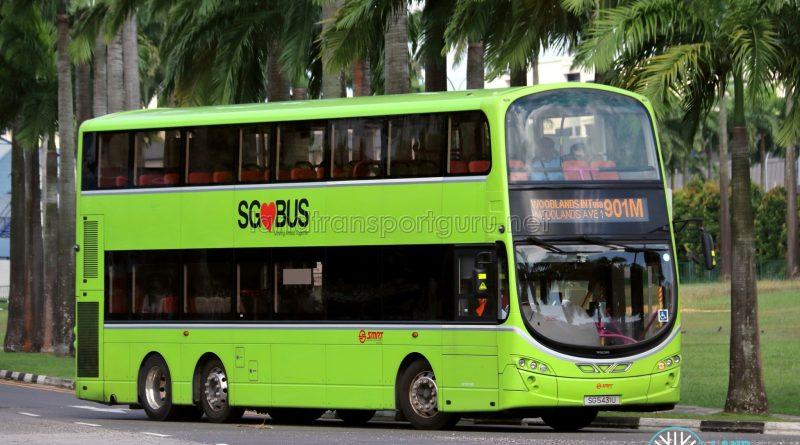 Bus 901M - SMRT Buses Volvo B9TL Wright (SG5431U)