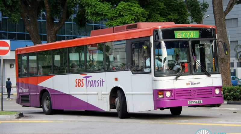 Bus CT8 - SBS Transit Mercedes-Benz O405 (SBS543B)