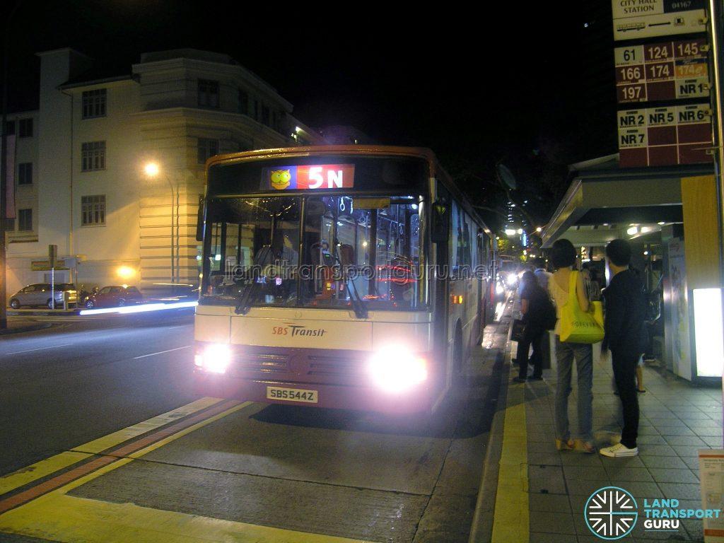 Bus 5N - SBS Transit Mercedes-Benz O405 (SBS544Z)