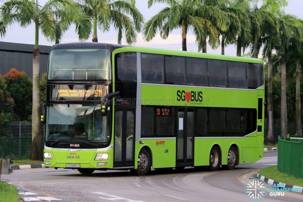 Bus 911 - SMRT Buses MAN A95 (SG5810J)