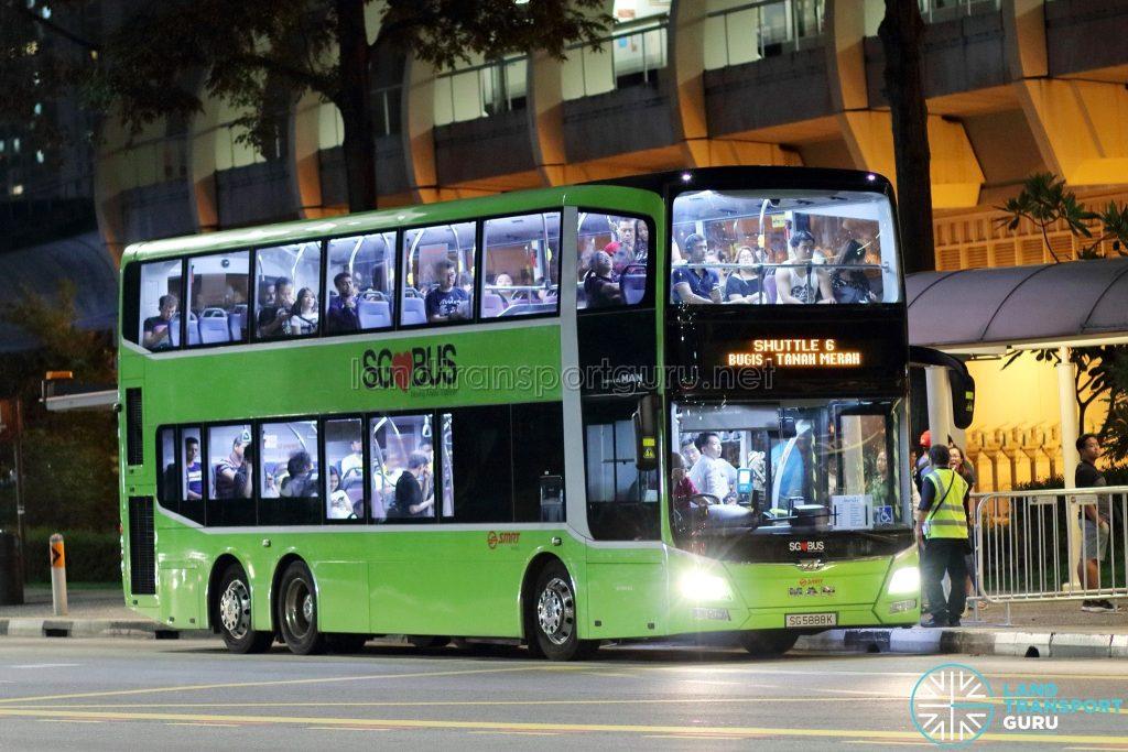 Shuttle 6 - SMRT Buses MAN A95 (SG5888K)