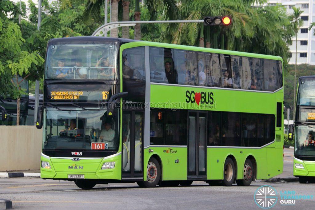 Bus 161 - SBS Transit MAN A95 Euro 6 (SG5939Y)