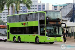 Bus 964 - SMRT Buses MAN A95 Euro 6 (SG5950M)