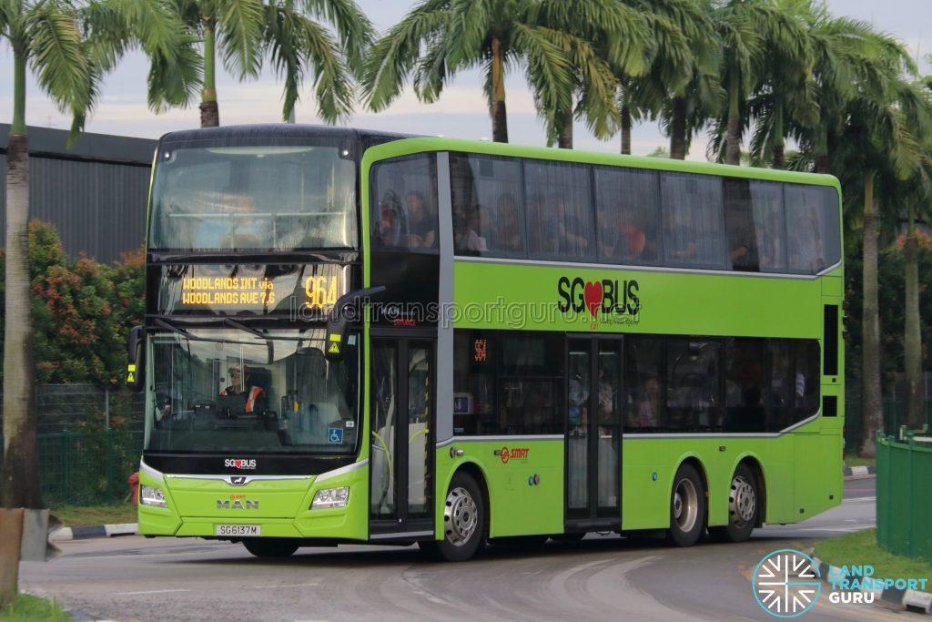 Bus 964 - SMRT Buses MAN A95 Euro 6 (SG6137M)