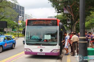 North East Line MRT Shuttle Service - SBS Transit Mercedes-Benz Citaro (SBS6171B)