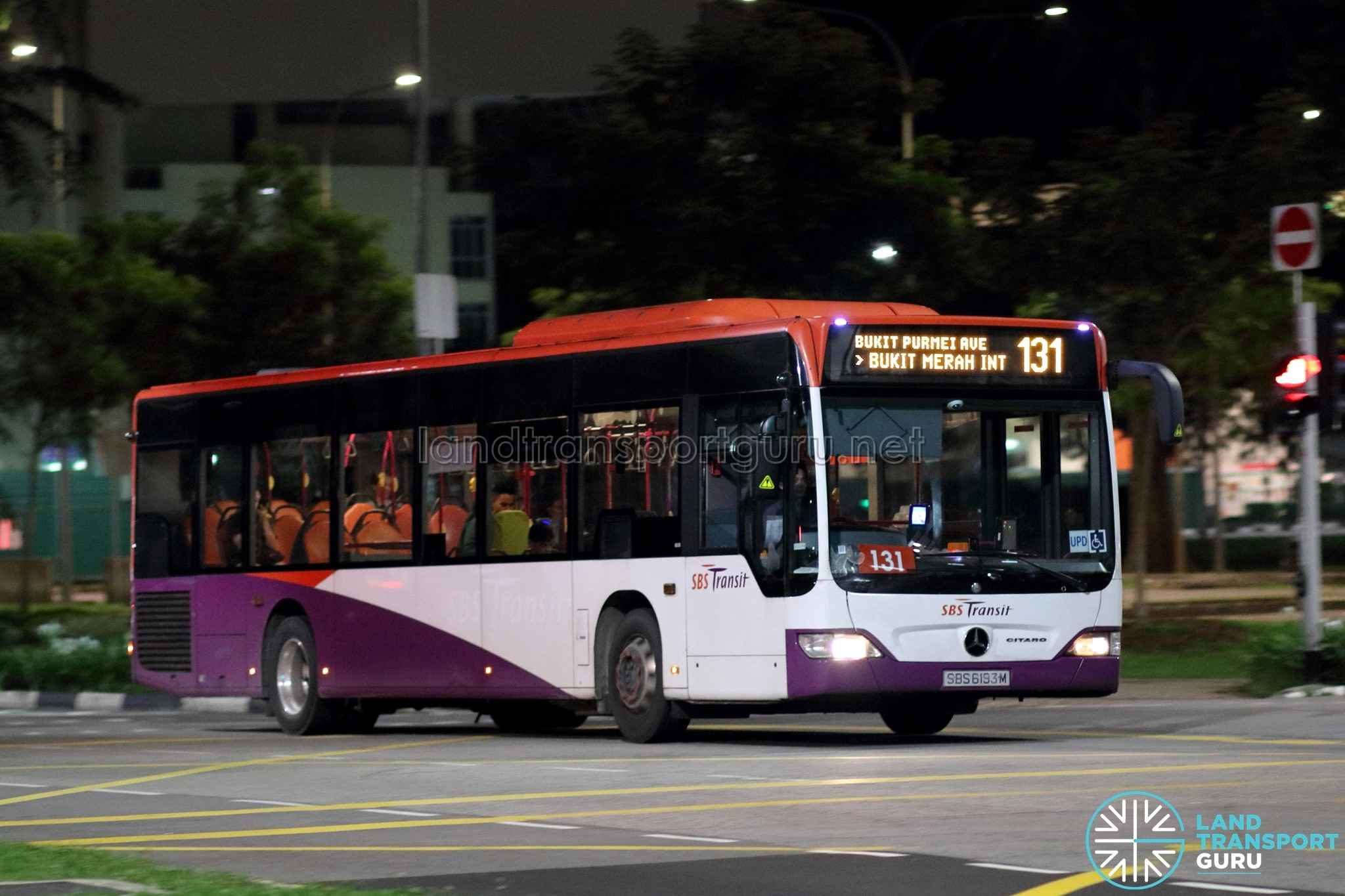 Bus 131 - SBS Transit Mercedes-Benz Citaro (SBS6193M)