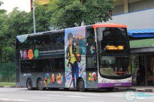 Bus 98A: SBS Transit Volvo B9TL CDGE (SBS7402D)