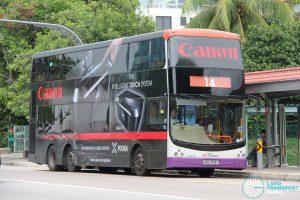 Bus 14: SBS Transit Volvo B9TL CDGE (SBS7413Y)