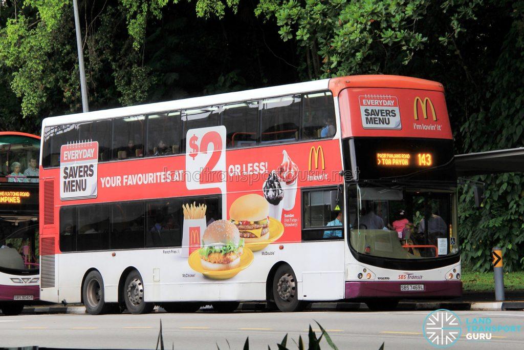 Bus 143: SBS Transit Volvo B9TL CDGE (SBS7469L)