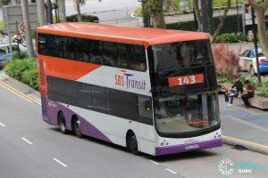 Bus 143: SBS Transit Volvo B9TL CDGE (SBS7493R)
