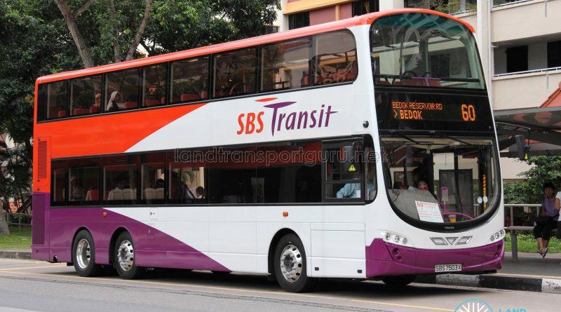 Bus 60: SBS Transit Volvo B9TL Wright (SBS7503X)