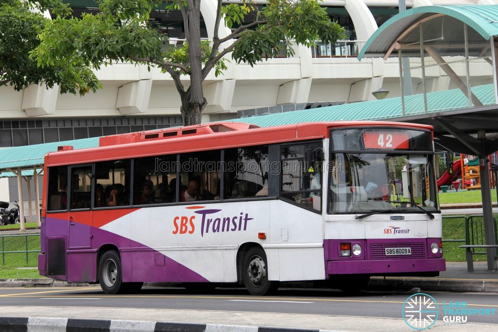 Bus 42: SBS Transit Dennis Dart Duple Metsec (SBS8009A)