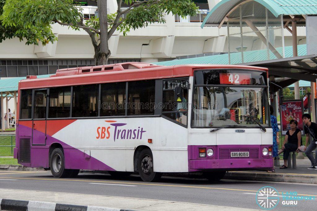 Bus 42: SBS Transit Dennis Dart Duple Metsec (SBS8015G)