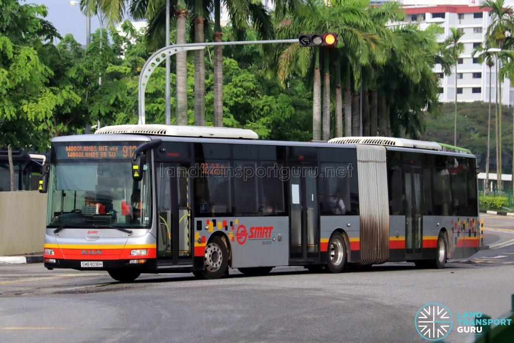 Bus 912 - SMRT Buses MAN A24 (SMB8018H)