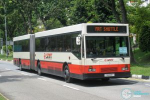 SMRT Mercedes-Benz O405G Hispano MkI (TIB893Y) - MRT Shuttle (Jurong East - Bukit Batok)