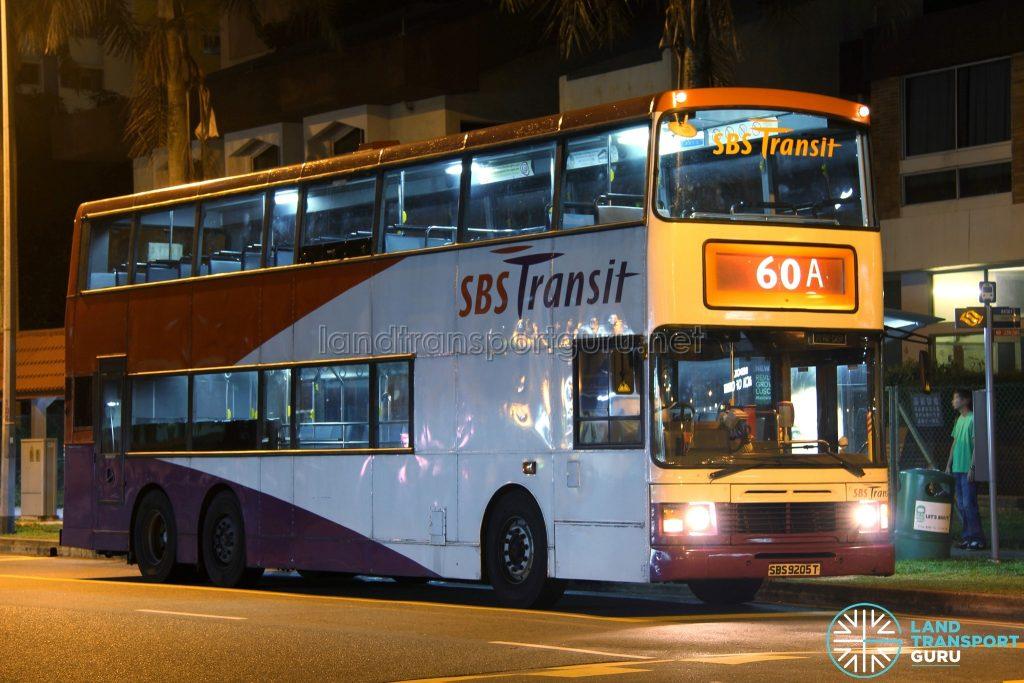Bus 60A: SBS Transit Volvo Olympian 3-Axle (SBS9205T)