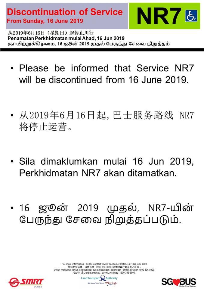 Discontinuation of NightRider NR7