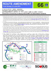 "Service 66 Route Amendment (Enhanced connectivity to Beauty World MRT for Bukit Batok residents) [Tamil translation in ""July"" instead of ""June""]"
