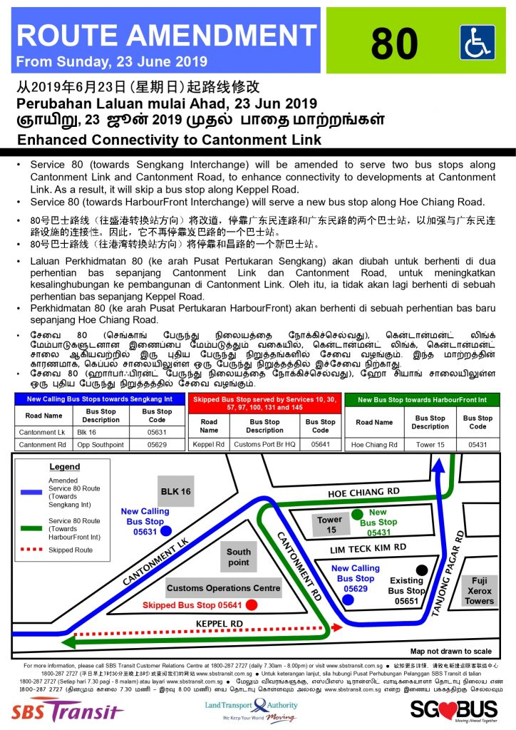 Service 80 Route Amendment (Enhanced Connectivity to Cantonment Link)