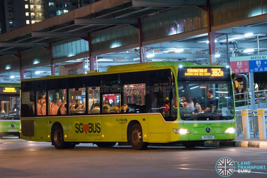 Bus 382A: Go-Ahead Mercedes-Benz Citaro (SG1189X)
