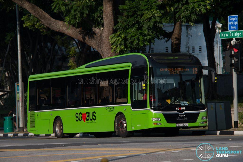 Bus 12: Go-Ahead MAN A22 (SG1720L)