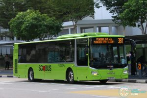 Bus 381 - Go-Ahead MAN Lion's City A22 (SG1849A)