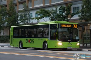 Bus 382G: Go-Ahead MAN Lion's City A22 (SG1849A)