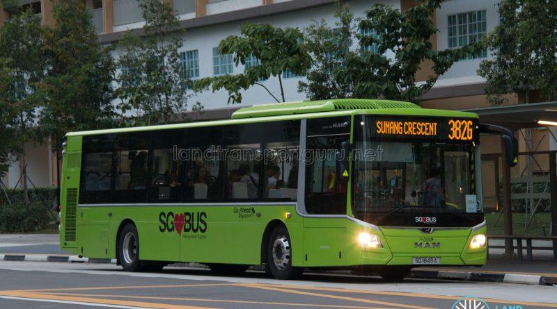 Bus 382G: Go-Ahead MAN Lion's City A22 (SG1849A)