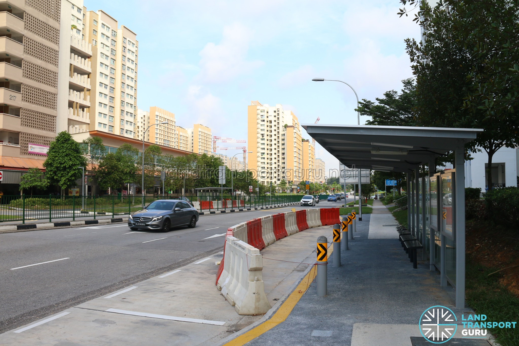 New Bus Stops for Bus 382 along Punggol Field