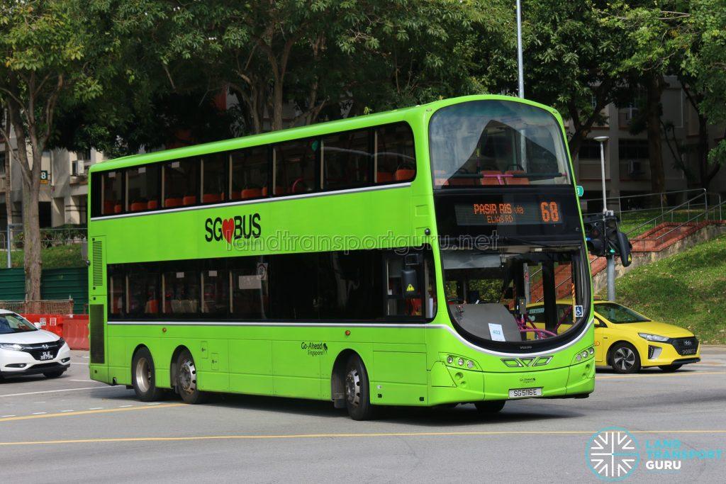 Bus 68 - Go-Ahead Volvo B9TL Wright (SG5116E)