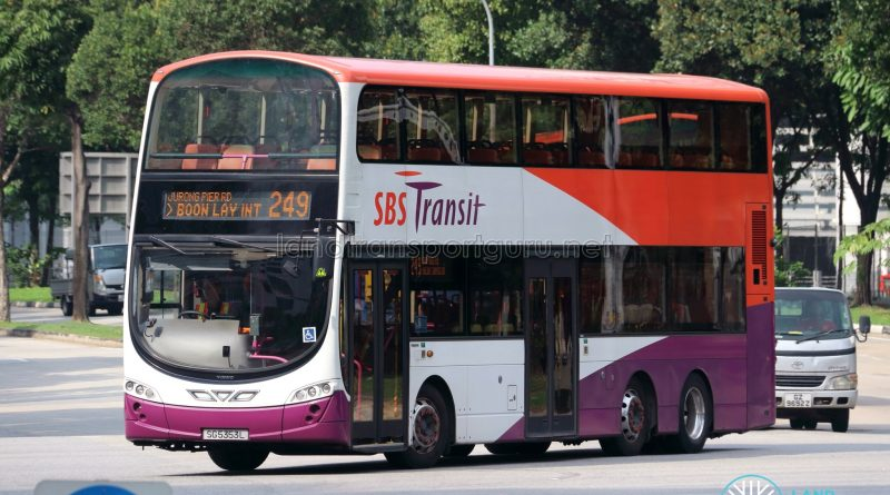 Bus 249 - SBS Transit Volvo B9TL Wright (SG5353L)