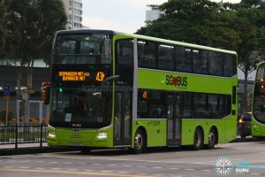 Bus 43M: Go-Ahead MAN Lion's City DD A95 (SG6094C)