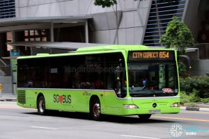 City Direct 654 - SBS Transit Mercedes-Benz Citaro (SBS6859B)