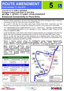 Service 5 Route Amendment (Enhanced connectivity to Flora Drive)
